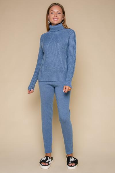 Кашемировый костюм двойка синий