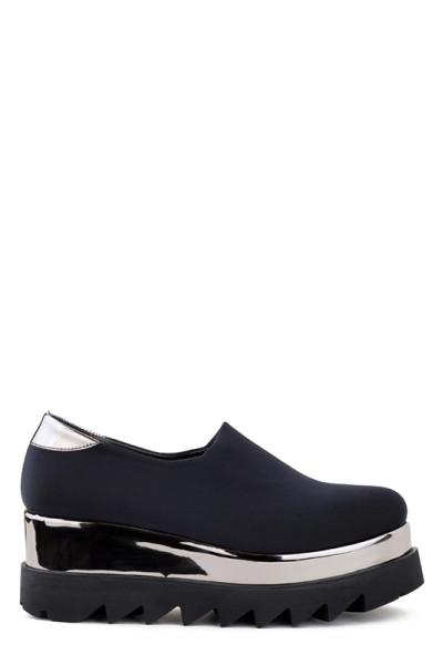 Туфли на платформе Aquamarine стрейчевые черные