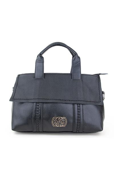 Стильная женская кожаная сумка черная