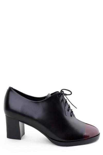 Женские кожаные ботинки Basconi на удобном квадратном каблуке