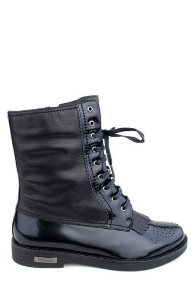 Черные женские ботинки Basconi на шнуровке