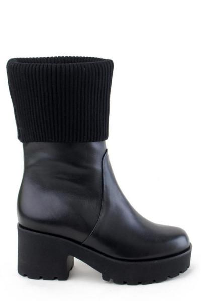 Кожаные ботинки женские Basconi высокая подошва толстый каблук