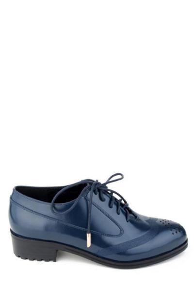 Женские туфли лоферы на шнуровке Basconi синие