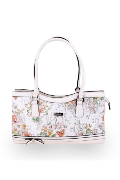 Женская сумка с цветочным принотом